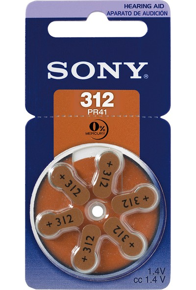 Sony 312 Numara Kulaklık Pili 6'lı