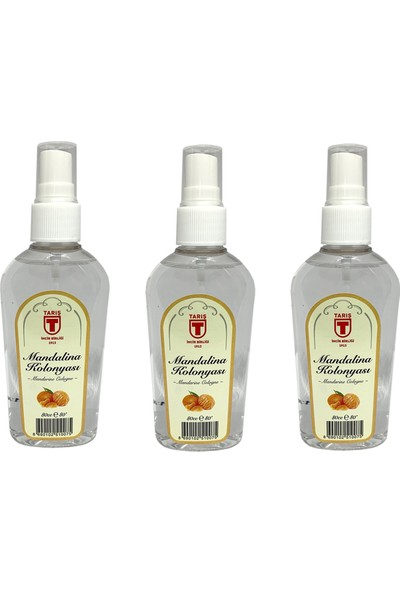 Tari̇ş Sprey Mandalina Kolonyası 80 ml - 3'lü