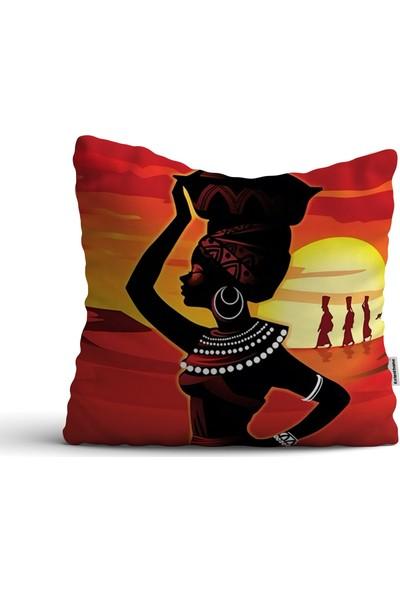 Kırlenthome Afrikan Model Tepsili Kırlent Kılıfı
