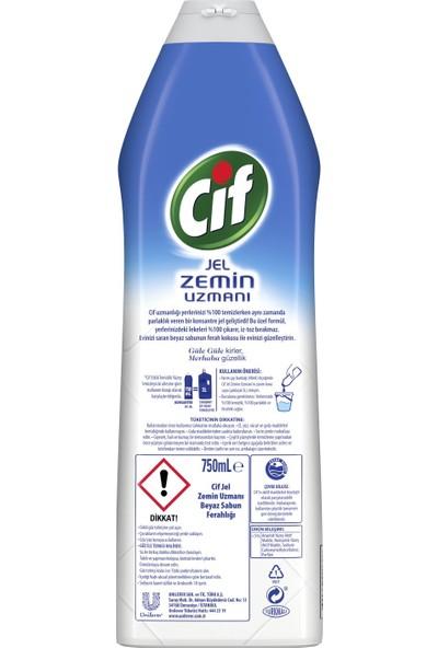 Cif Jel Zemin Uzmanı Beyaz Sabun Ferahlığı 750 ml