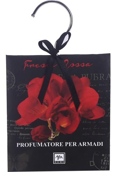 Bosphorus Cekmece Ve Dolap İçi Çiçek Kokusu İtalyan Tasarım Metal Askılı Kırmızı Gül Zarfı