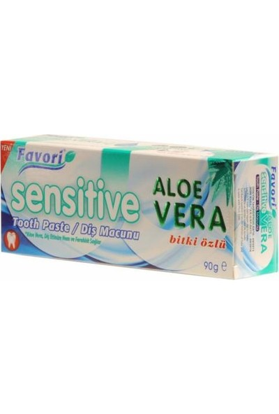Favori Sensitive Aloe Vera Diş Macunu 90 gr