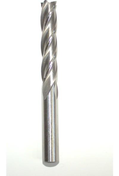 Gfb Uzun Hss Dört Ağızlı Parmak Freze 22 mm