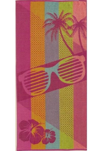 Özdilek Nice Plaj Havlusu Pink Glass 75x150 cm