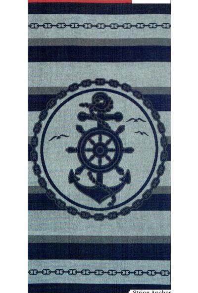 Özdilek Nice Plaj Havlusu Stripe Anchor 70x150 cm