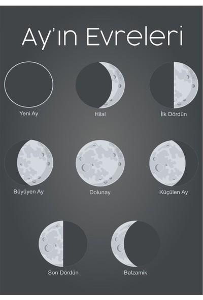 Okulposteri Ayın Evreleri̇ Posteri̇ 100 x 150 cm