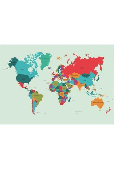 Okulposteri Dünya Hari̇tasi 2 100 x 150 cm