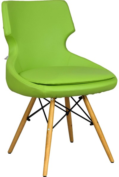Bürocci Zaga Cafe Koltuğu - Yeşil Deri - 2023G0110