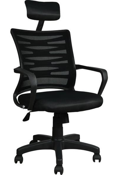 Bürocci Alisa Plastik Ayaklı Ofis Koltuğu - Siyah - 2063C0541