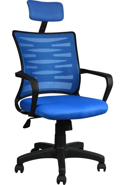 Bürocci Alisa Plastik Ayaklı Ofis Koltuğu - Mavi - 2063C0542