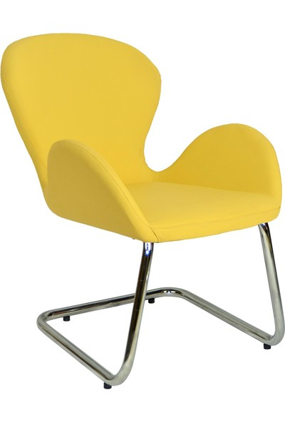 Bürocci Roberta Misafir Koltuğu - Sarı Deri - 2069J0113