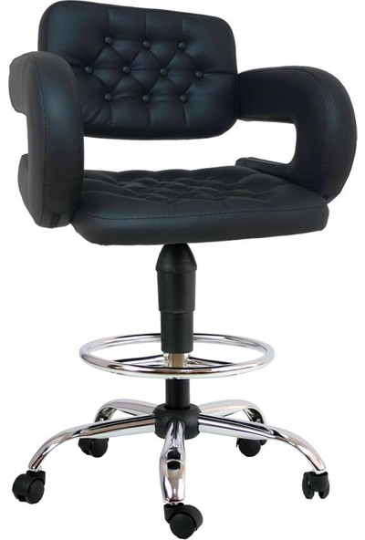 Boombar Pattaya Bar Sandalyesi-Siyah-9590V0101