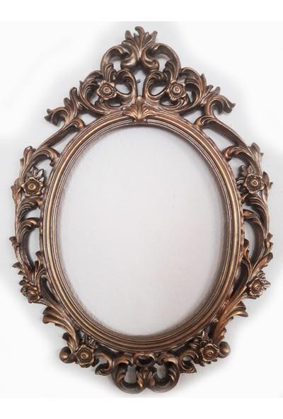 Rys Polyester Aynalı Çerçeve Duvar Için Gold
