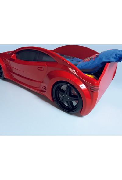 Fantastic Star Arabalı Yatak Kırmızı (Basic) Çocuk Karyolası