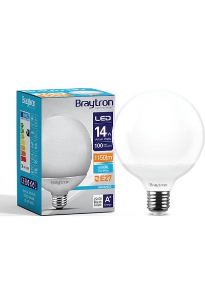 Braytron 14 W 6500K Beyaz Işık LED Glop Ampul