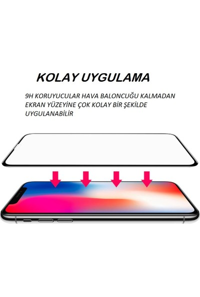 Semuse Apple iPhone 7/8 Beyaz 9D Ekran Koruyucu