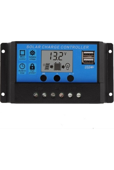 Mestech 50A 12/24V Solar Şarj Kontrol Cihazı Regülatörü