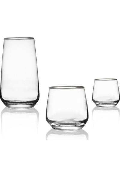 Lav 18 Parça Gümüş Su Bardağı Seti