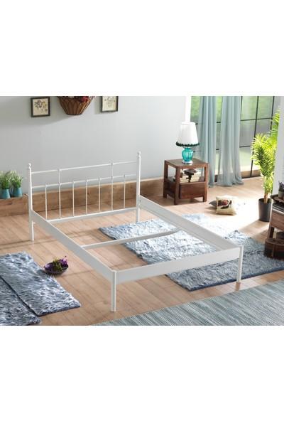 Unimet Lalas-S Tek Kişilik Metal Karyola-120 x 200 Beyaz