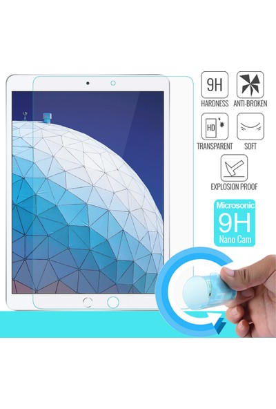 Microsonic Apple iPad Air 3 10.5'' 2019 (A2152-A2123-A2153-A2154) Nano Cam Ekran Koruyucu