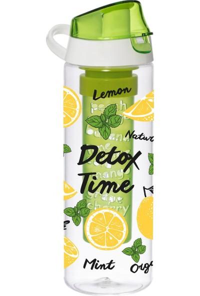 Herevin Tropic Limon Baskılı İNfuserli Detox Matara - Como Kapak