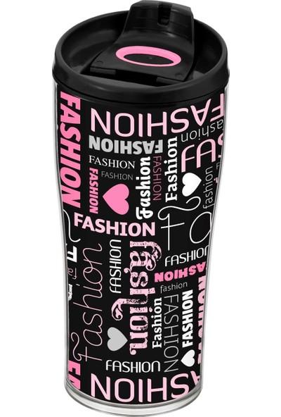 Herevin 440 Ml Fashion Desenli Konik Kahve Kupası (Mug)