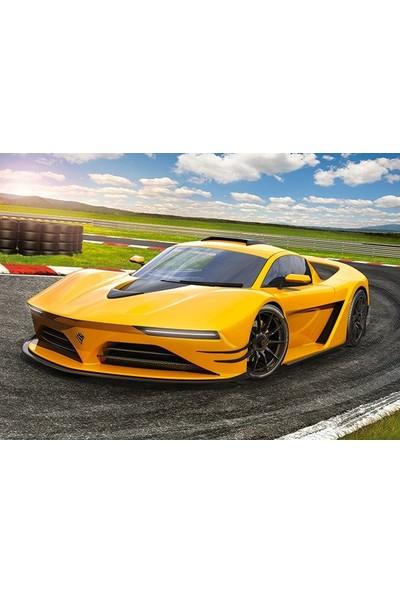 Castorland 120 Parça Sarı Spor Otomobil Çocuk Puzzle