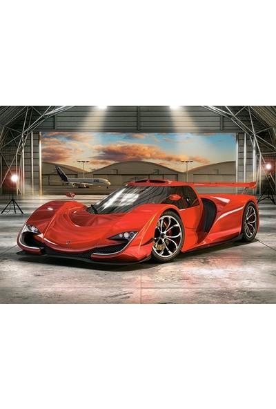 Castorland 60 Parça Hangar'Da Kırmızı Otomobil Çocuk Puzzle