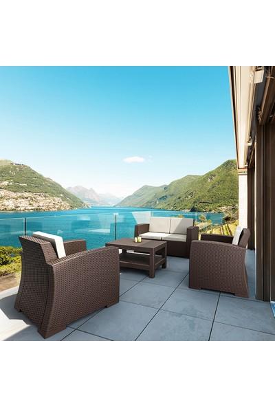 Siesta Rattan Monaco Lounge Koltuk Seti Kahverengi