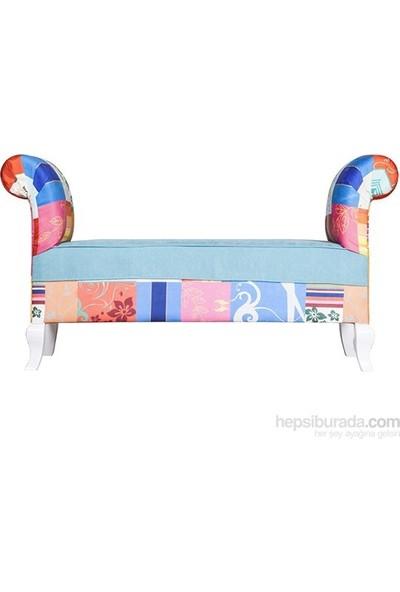 3A Mobilya Blue Patchwork Markiz - Desen
