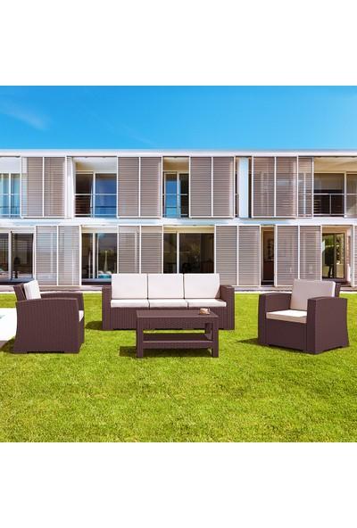 Siesta Rattan Monaco Lounge Xl Koltuk Seti Kahverengi