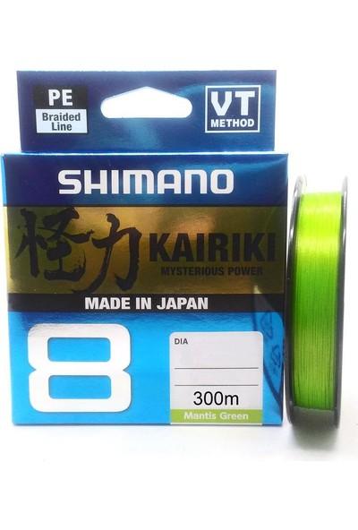 Shimano Kairiki PE Mantis Green 8 Örgü İp Olta Misinası 300Mt