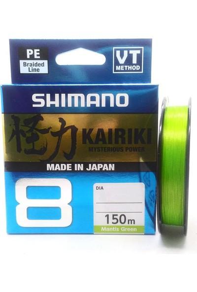 Shimano Kairiki PE Mantis Green 8 Örgü İp Olta Misinası 150Mt