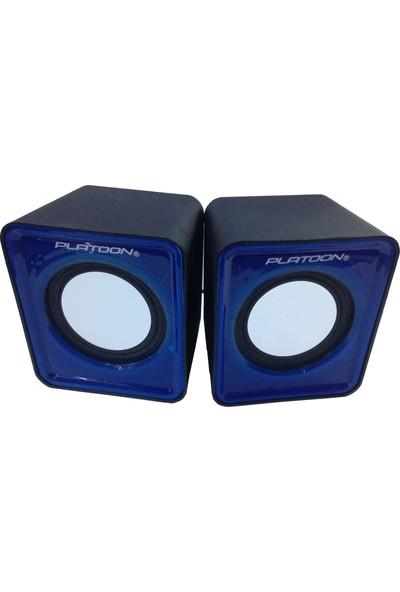 Platoon PL-4082 USB mm Speaker Mavi̇