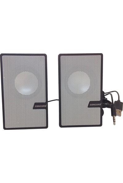 Concord C-784 1+1 USB Multi̇medi̇a Speaker Beyaz