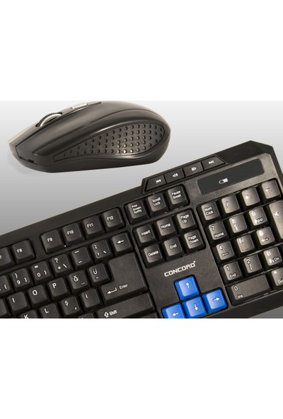 Concord C-50 Wireless Kablosuz Klavye Mouse Set