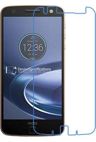 Aktif Aksesuar Motorola Moto Z Temperli Cam Ekran Koruyucu Yuvarlak Kenar 9h