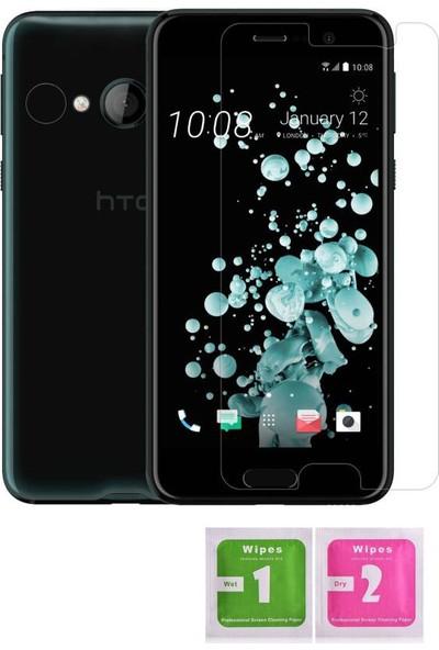 Aktif Aksesuar HTC U Play Yuvarlak Kenar 9h Temperli Cam Ekran Koruyucu