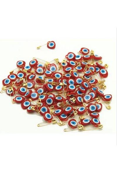 Plastik Nazar Boncuğu İğneli̇ 50'li̇ Kırmızı