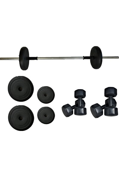 Powerbull Beginner Halter Seti 15 kg 3 kg x 2 Adet Dambıl 5 kg x 2 Adet Dumbell Set 35 kg Vücut Geliştirme Başlangıç Seti