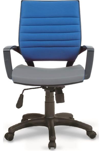 Asbir Rigel 55100 Çalışma Koltuğu Ofis Koltuğu Çalışma Sandalyesi Mavi-Gri