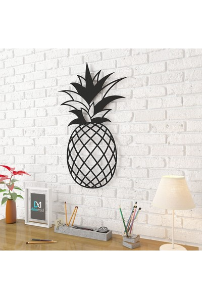 Dekomotif Ananas Metal Tablo Ev/ofis Dekorasyonu