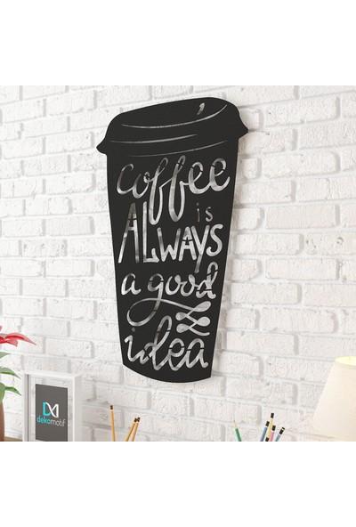 Dekomotif Coffe Cup Metal Tablo Ev/ofis Dekorasyonu