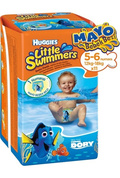 Huggies Little Swimmers Mayo Bebek Bezi 5-6 Beden 11 Adet X3