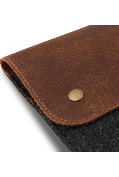 MegaGear Hakiki Deri ve Keçeli Macbook Pro Kılıfı 15-16 inç