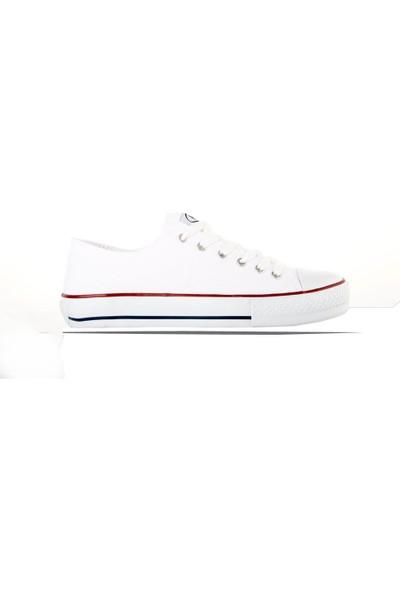 M.P 191-6530 Erkek Kanvas Günlük Ve Yürüyüş Spor Ayakkabı Beyaz