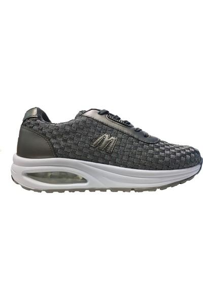 M.P 191-7430 Kadın Günlük Yürüyüş Spor Ayakkabı Gümüş