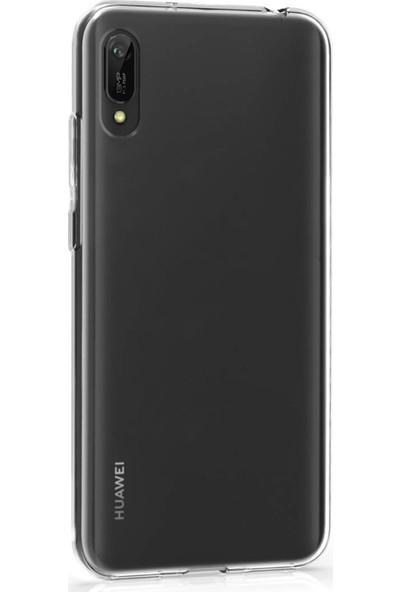 Microsonic Huawei Y6 Pro 2019 Kılıf Transparent Soft Beyaz