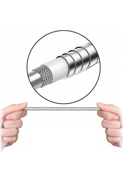 Sunix Metal Type-C Data & Şarj Kablosu