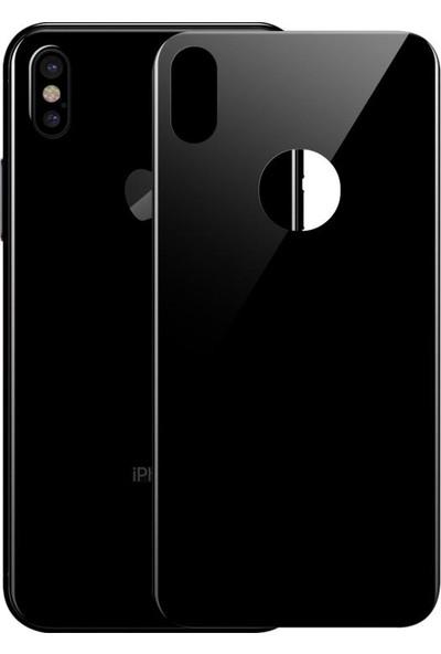 Galıo Apple iPhone X Siyah 5D Full Body Cam